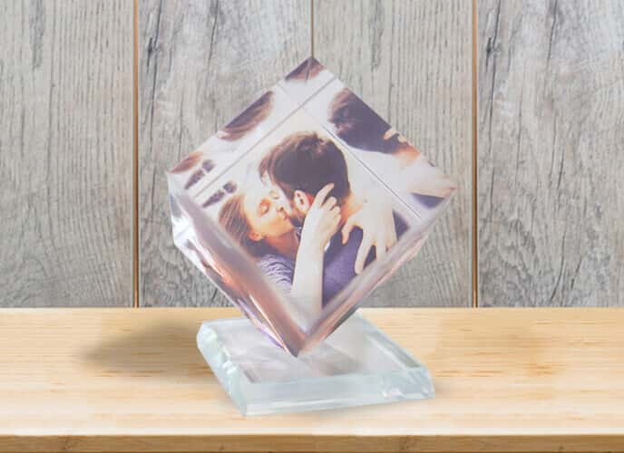 Photo Crystal Cube
